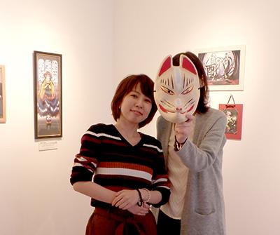 卒業生グループ展「花結び~和風イラスト展~」@中崎町イロリムラ